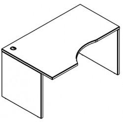 Cтол рабочий для ресепшен XCET 149 (L/R) береза