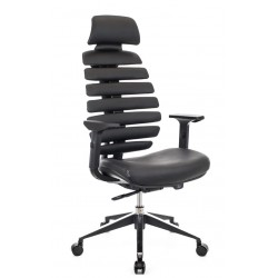 Компьютерное кресло Everprof Ergo Black кожа черный