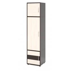 Шкаф для одежды Венге каштан, дуб молочный