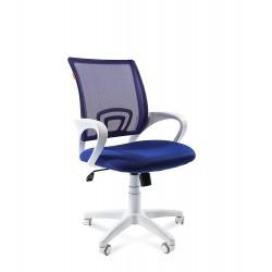 Chairman 696 white белый пластик, синий