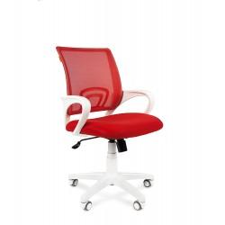 Chairman 696 white белый пластик, красный
