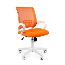 Chairman 696 white белый пластик, оранжевый