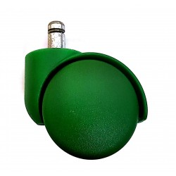 Колеса (ролики) для офисного кресла, цвет зеленый, пластик (комплект 5шт)