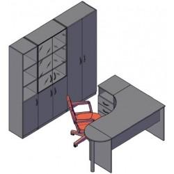 Комбинация мебели №3 легно